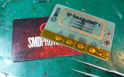 PCB Businesscard Nextgen: NFC enabled