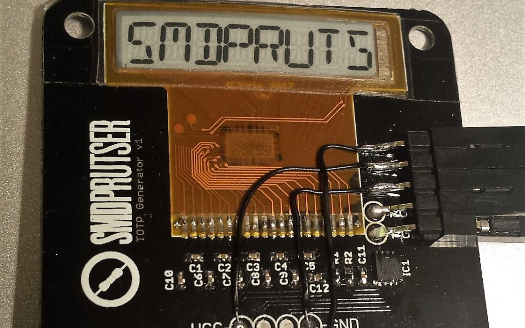 Playing with a surplus E-ink module